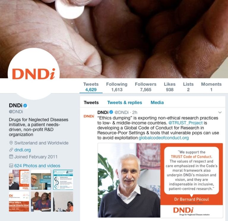 tweet by DNDi